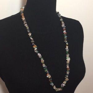 Vintage Jewelry Natural Stones Quartz Necklace